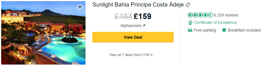 Tripadvisor image – see the latest reviews at Bahia Principe Costa Adeje and compare prices from multiple suppliers