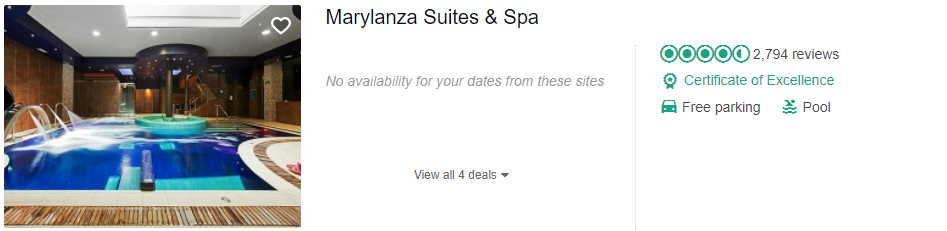 Tripadvisor image – see the latest reviews at Marylanza Suites & Spa and compare prices from multiple suppliers