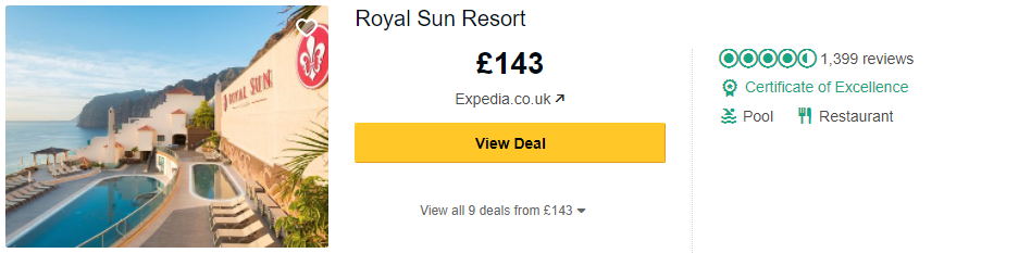 Tripadvisor image – see the latest reviews at Royal Sun Resort and compare prices from multiple suppliers