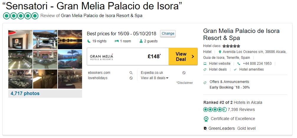 Tripadvisor image – see the latest reviews at Sensatori Resort - Gran Melia Palacio de Isora and compare prices from multiple suppliers