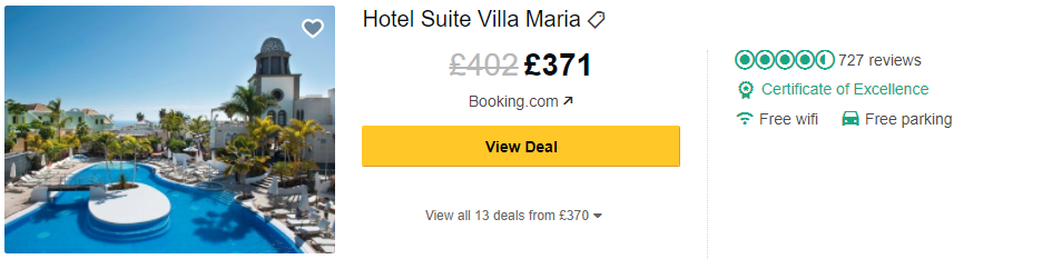 Tripadvisor image – see the latest reviews at Hotel Suite Villa Maria and compare prices from multiple suppliers