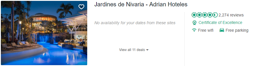 Tripadvisor image – see the latest reviews at Jardines de Nivaria and compare prices from multiple suppliers