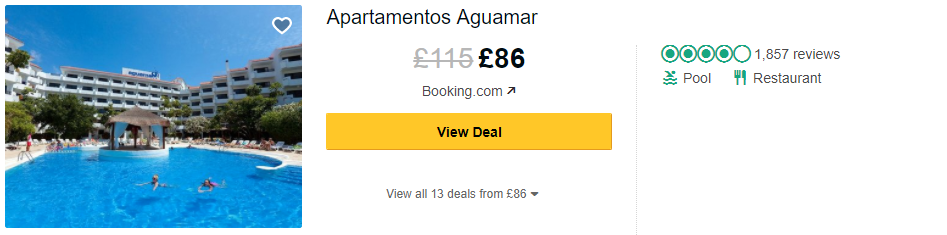 Tripadvisor image – see the latest reviews at the Aguamar Apartments and compare prices from multiple suppliers