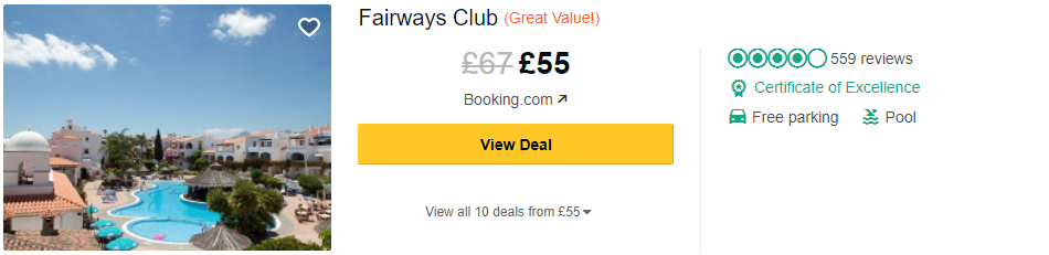 Tripadvisor image – see the latest reviews at Fairways Club and compare prices from multiple suppliers