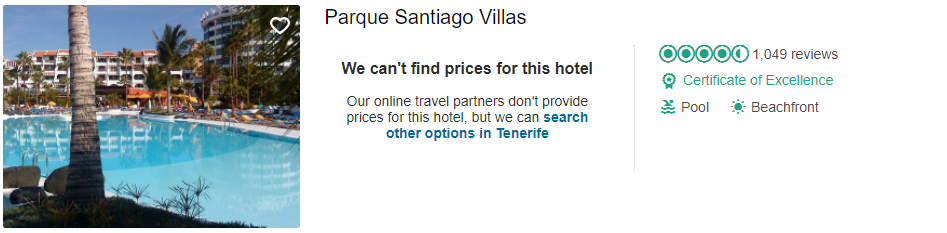 Tripadvisor image – see the latest reviews at Parque Santiago III & IV and compare prices from multiple suppliers