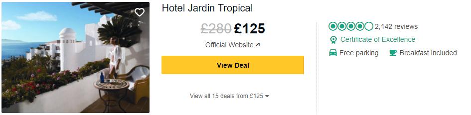 Hotel Jardin Tropical In Costa Adeje Moorish Style Luxury Hotel